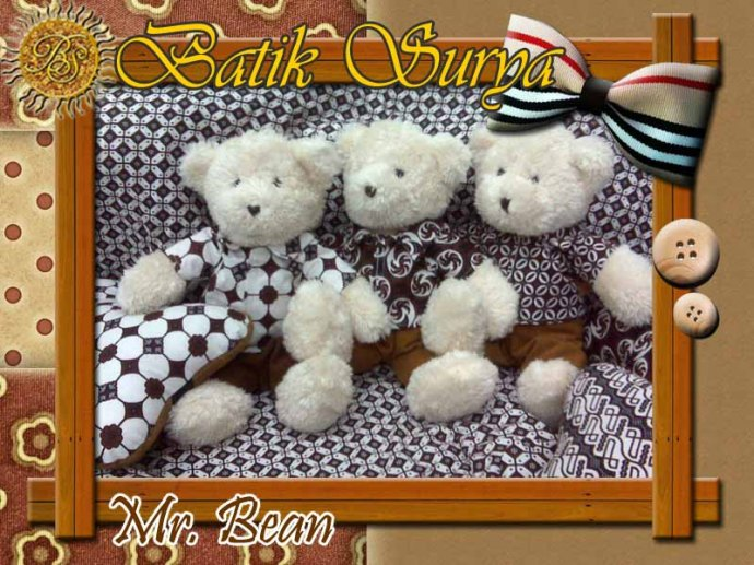 Boneka Mr Bean Batik Surya
